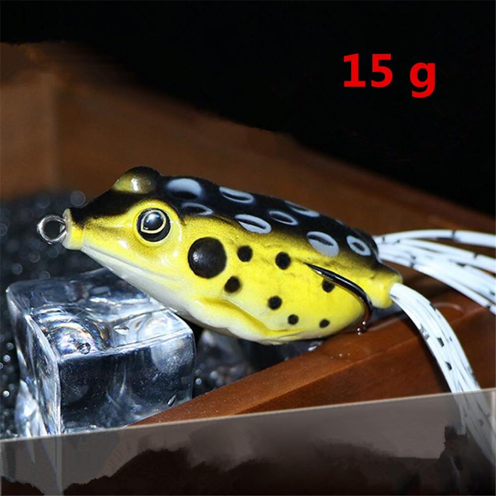 1 PCS 6.5 Cm/15g Lifelike Soft Small Jump Frog Engaging Bait Silicone Bait For Crap Fishing Gear Crankbait Crankbaits 12 Colors