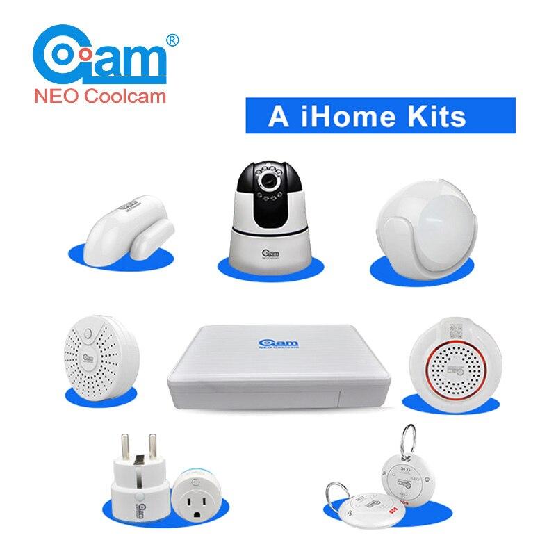 COOLCAM UM iHome Kits 720 P Wifi IP Sem Fio Da Câmera de Vigilância de Segurança Ligação Com Smart Home Gateway de Automação Residencial Inteligente