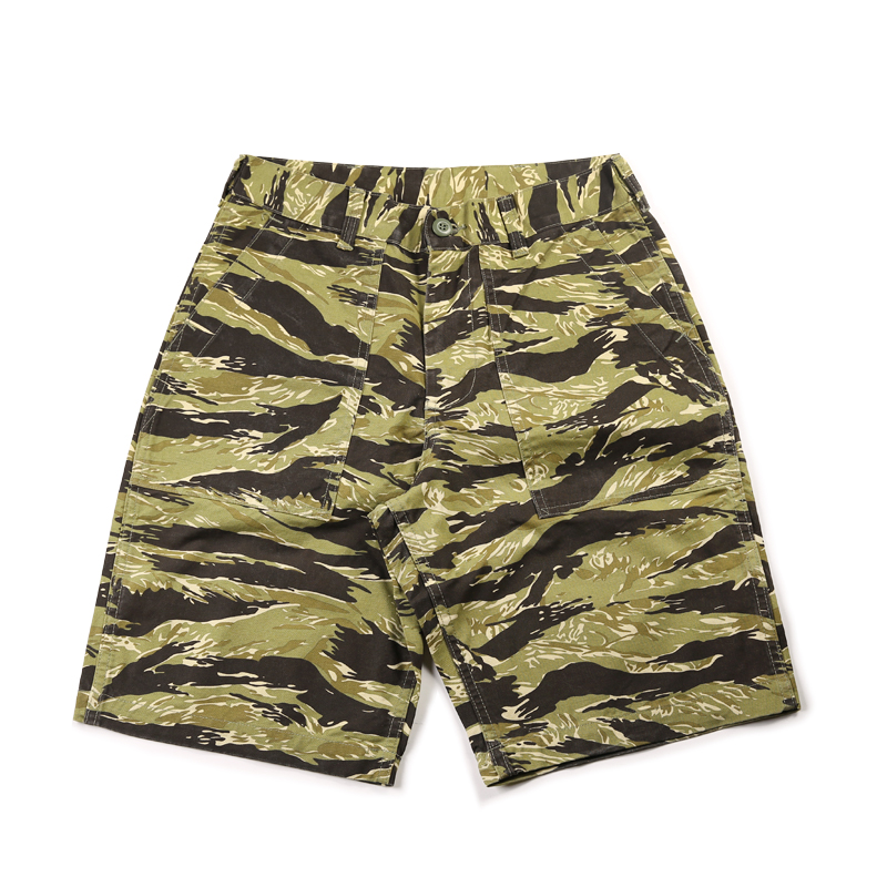 us military style tiger pattern camouflage cargo short pants mens cotton vintage straight casual short