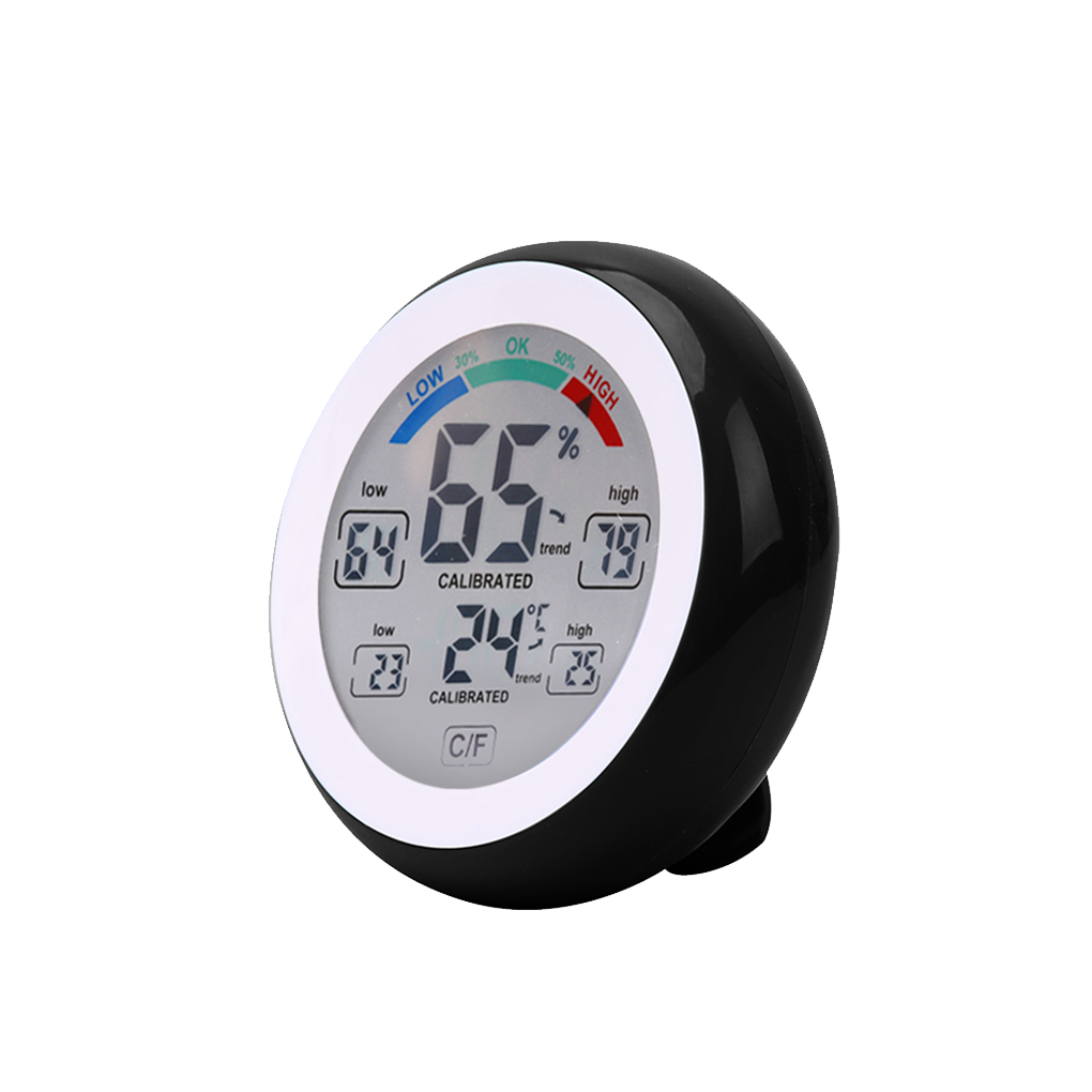 Digital Thermometer Hygrometer Temperature Humidity Meter Max Min Value Trend Display weather station digital lcd temperature humidity meter