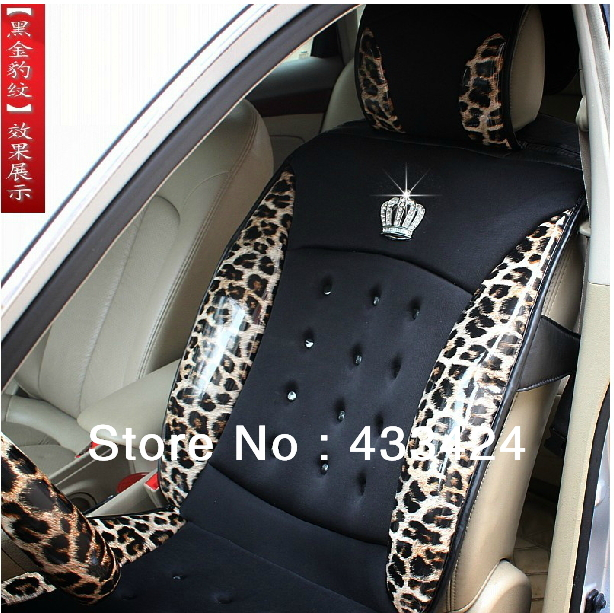 JP DAD Crown Luxury Fashion Personality Leopard Print PU Leather Car Seat Cover Summer New Cool Pad Four Seasons General In Automobiles Covers From