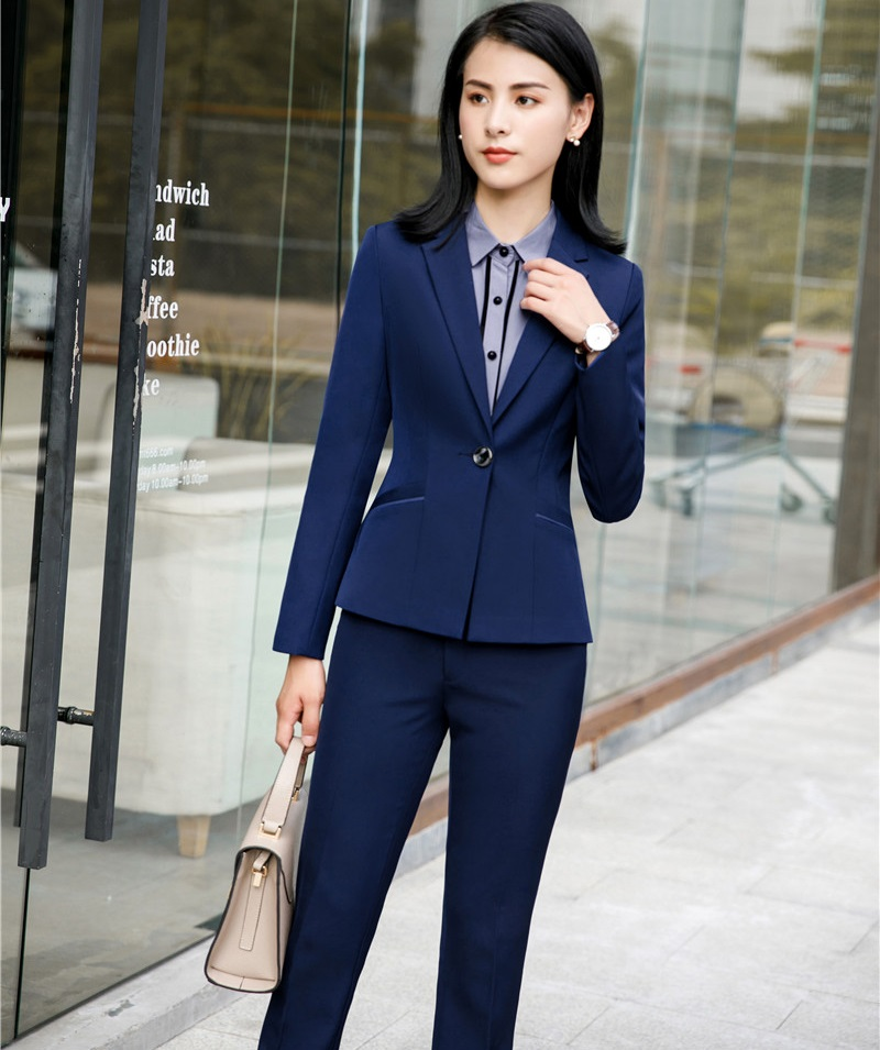 New Styles Formal Uniform Styles Business Suits Female Pantsuits With Jackets And Pants Ladies Office Blazers Pants Suits
