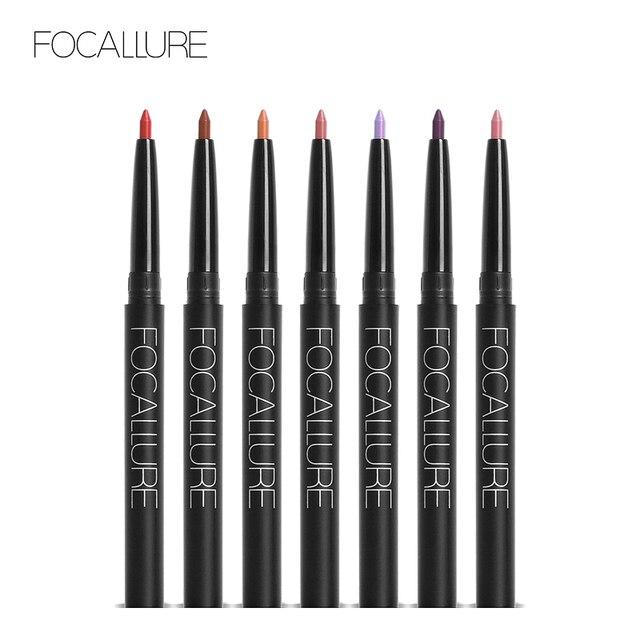 FOCALLURE New Pro 19 Colors  Lip Liner Waterproof Lip Liner Pencil Waterproof Lip Tools Lip Makeup