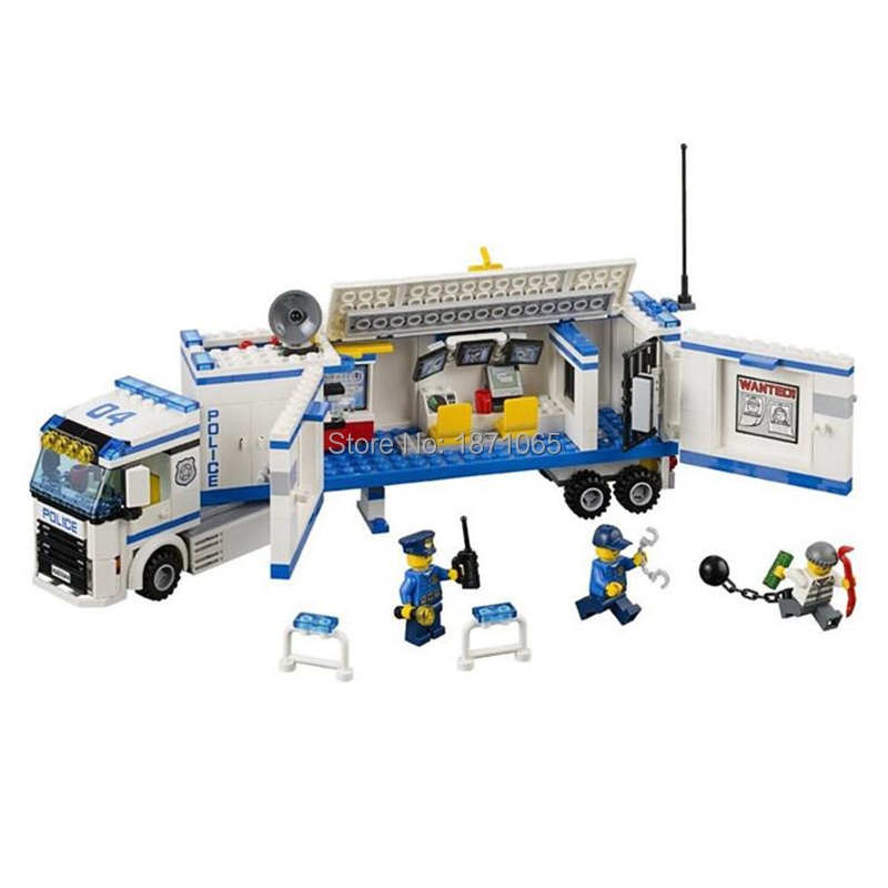 394Pcs Bela 10420 Urban Fluidity Police Station Building Blocks Assembled Kids Toys For Children Compatible With Legoe 60044