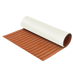 Image 5 - Self Adhesive 600x2400x6mm Teak Decking EVA Foam Marine Flooring Faux Boat Yacht Teak Decking Sheet Car Carpet Floor Mat