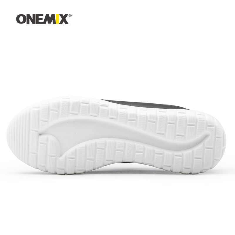 Onemix мужские кроссовки для бега для женщин черные спортивные дышащие Дизайнерские мужские кроссовки для бега уличные спортивные кроссовки для ходьбы