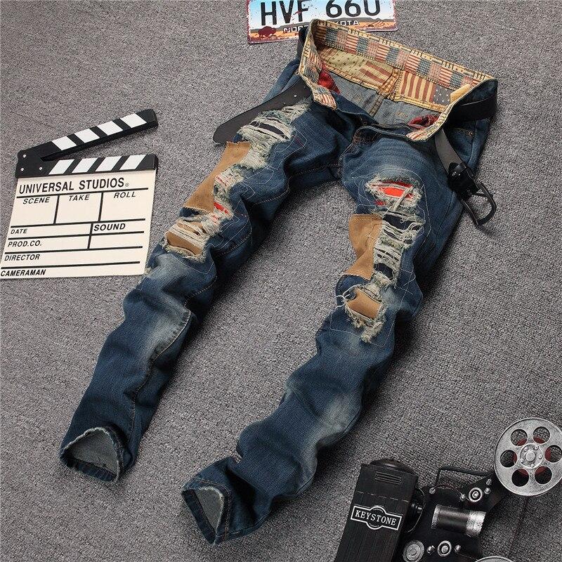 Aliexpress.com : Buy Hot Sale Men Destroyed Holes Jeans Fashion ...