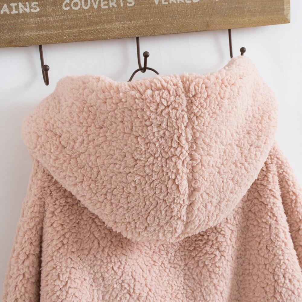 xinage Chauve pink red Femmes coffee Outwear D'agneau Surdimensionné gray souris Hiver En 2018 Épais Jeans Laine Veste Chaud Black Manteau Kz434 Manches zUqpHw