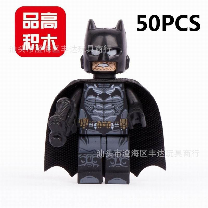 Lepin Pogo Wholesale 50PCS PG001 Batman The Avengers Marvel Super Heroes Building Blocks Bricks Toys Compatible With Legoe lepin 07056 775pcs super heroes movie blocks the scuttler toys for children building blocks compatible legoe batman 70908