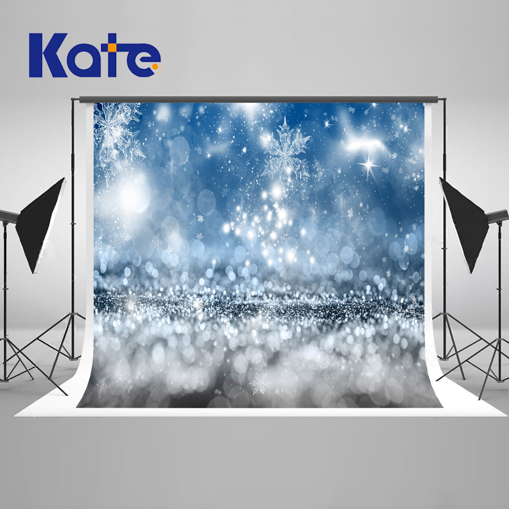 Kate Winter Christmas Photography Backdrops Snowflake Light Photographic Backdrops  Washable Microfiber Snow Photo Background kate wood photography microfiber background christmas theme snowman photographic backdrops for children studio photo props
