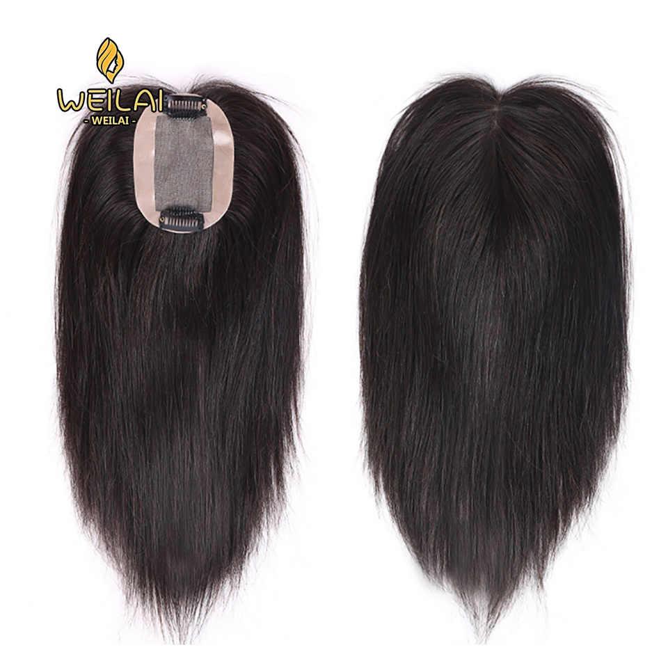 100% парик из натуральных волос ручной вязки девушка наращивание волос накладные Блокировка парик с белыми волосами верхняя Замена Крышка головы сохранить