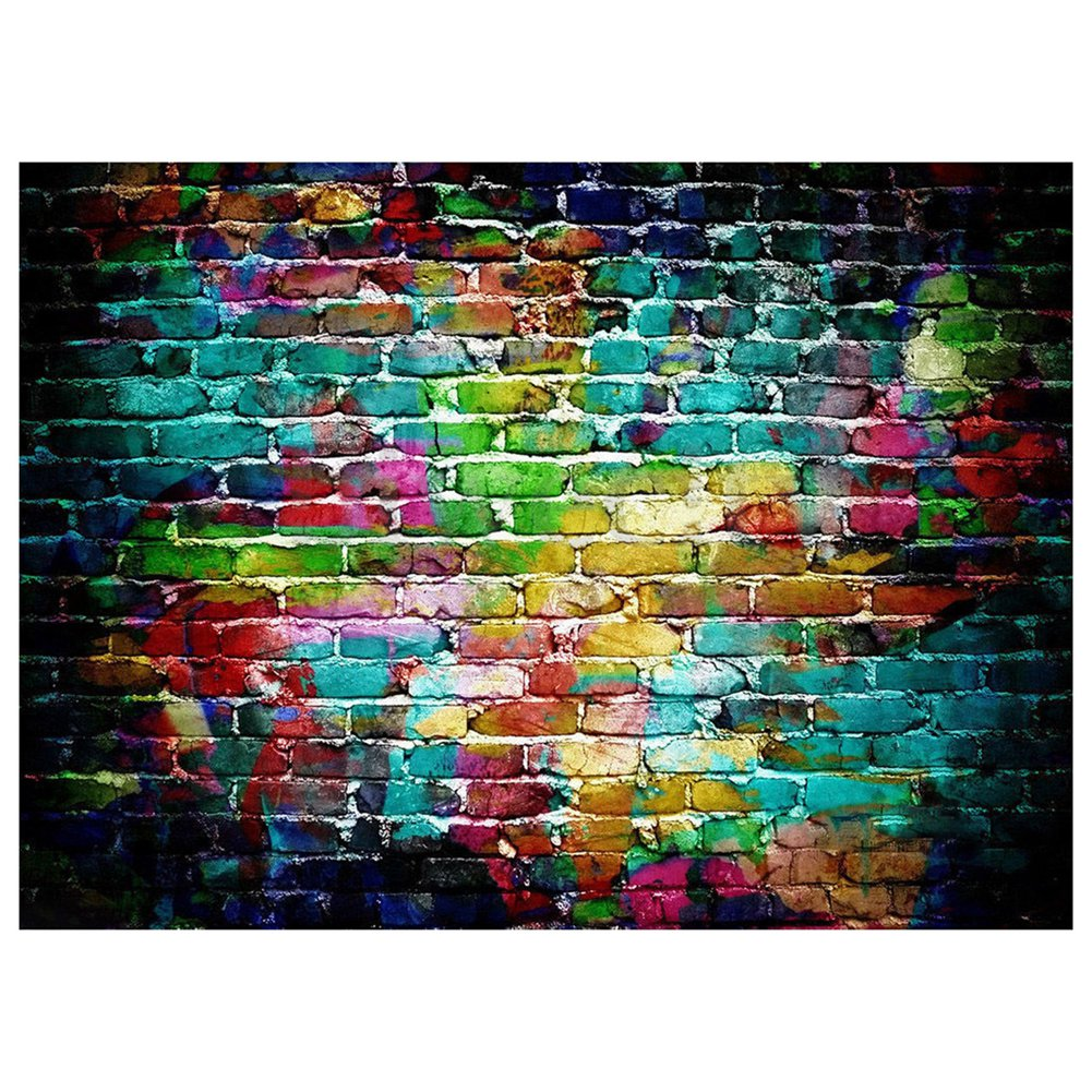 7x5FT Graffiti Brick Wall Photo Backdrop Photography Background Studio Props shengyongbao 300cm 200cm vinyl custom photography backdrops brick wall theme photo studio props photography background brw 12