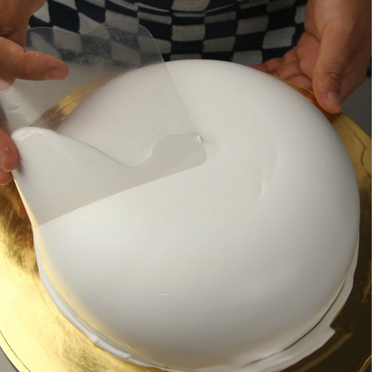 Behogar 5PCS Flexible Transparent Plastic <font><b>Cake</b></font> <font><b>Scraper</b></font> <font><b>Smoother</b></font> for Bread Pastry Chef Bakery <font><b>Cake</b></font> Decorating Supplies image