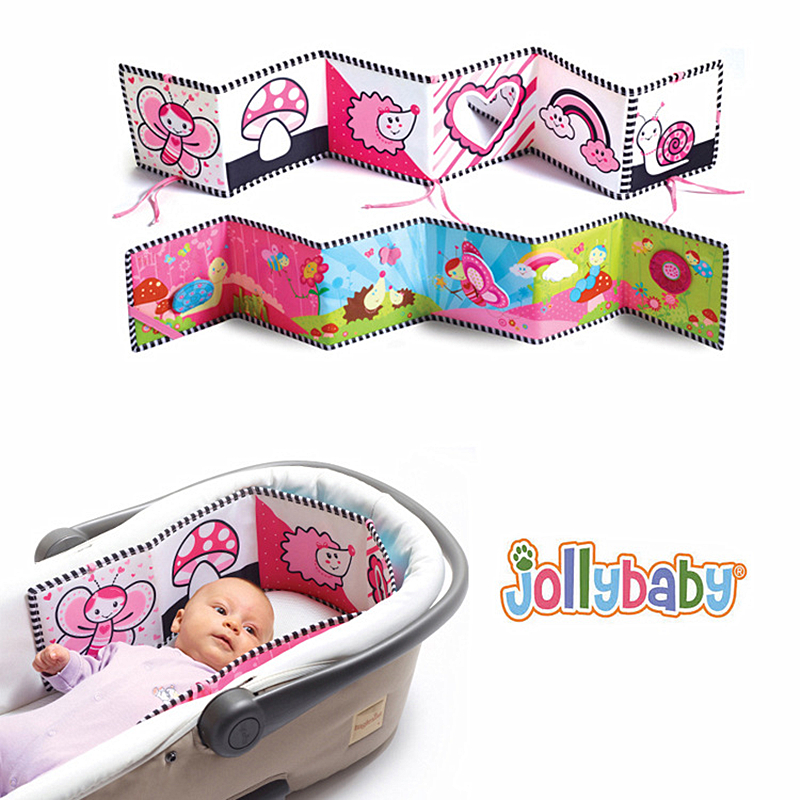 Jollybaby Baby Cloth Book Toys 3D Animal Around Multi-touch Multifunction Fun And Colorful Intelligence Developing Baby Toys #E