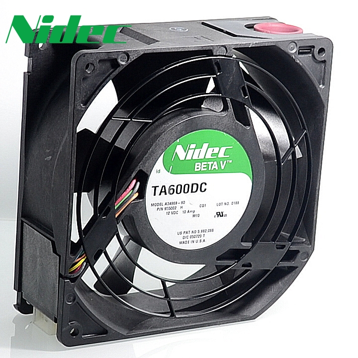Nidec Original  server fans TA600DC A34969-90 cooling fan 15CM  12V 10A fan dual ball bearing original delta afc1212de 12038 12cm 120mm dc 12v 1 6a pwm ball fan thermostat inverter server cooling fan