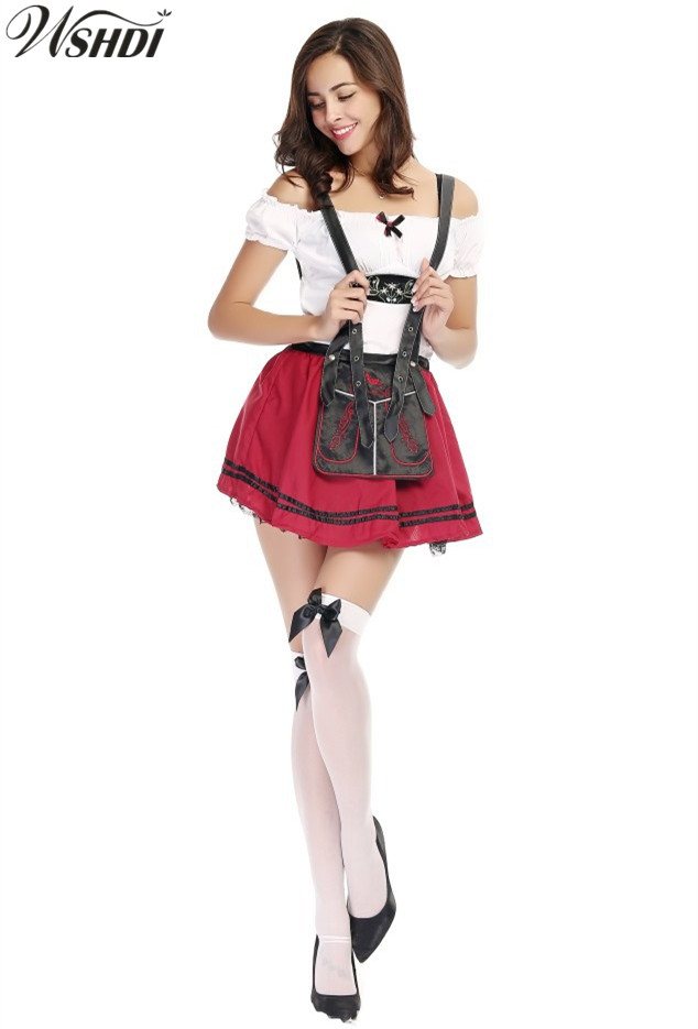 Sexy Ladies Oktoberfest Costumes Germany Wench Outfits Beer Maid Cosplay Fancy Dresses For Women Halloween Costume