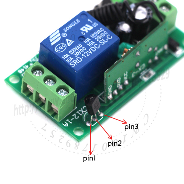 DC12V 10A 315//433MHz Wireless Relay RF Remote Control Switch Receiver Module