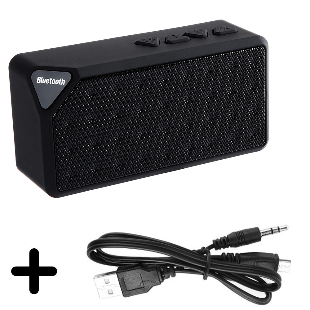X3 Portable Mini Bluetooth Speaker X3 TF USB FM Radio Wireless Music Sound Box Subwoofer Loudspeakers with Mic for iOS Android