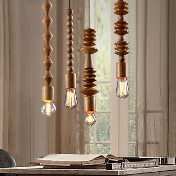 Moderne Pendelleuchte Eichenholz Lampe E27 Sockel Holz Lampenfassung Schlafzimmer Wohnzimmer Hngen Mit Glhlampen