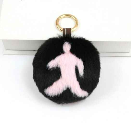 Imitação de Pele de Coelho Rex 10 cm Carta DIY Colorful Pom poms Pompons Bola Para Bolsas e Roupas Chave anéis ou corrente chave