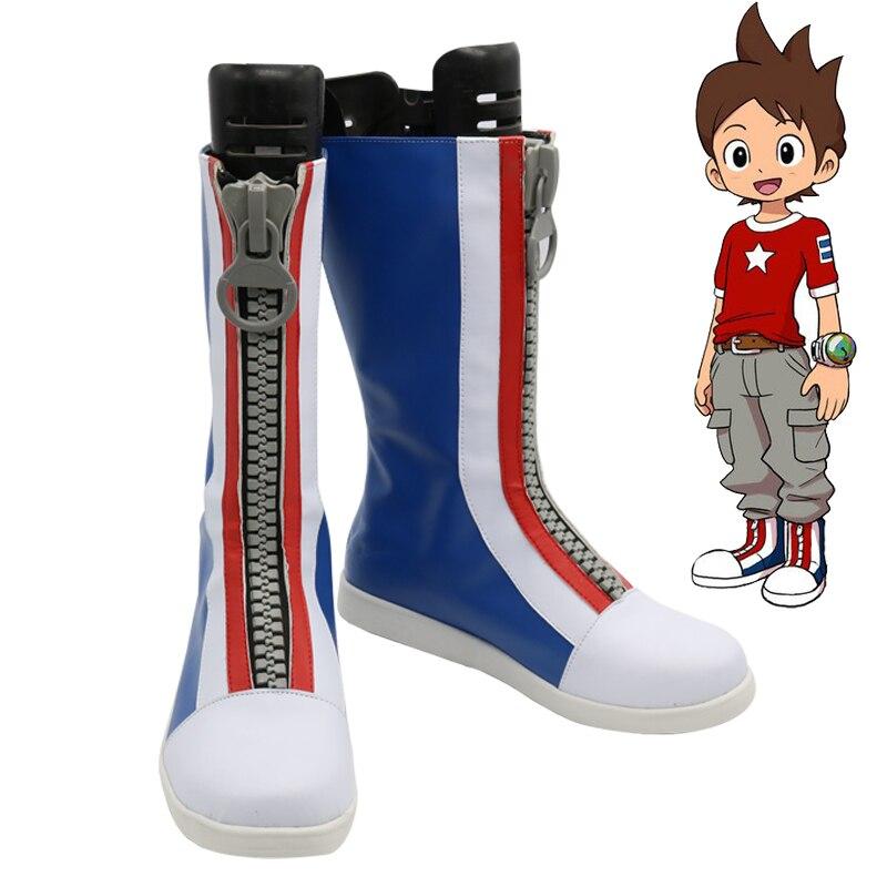 Youkai Orologio Nathan Adams Cosplay Stivali Party Shoes Anime Custom Made