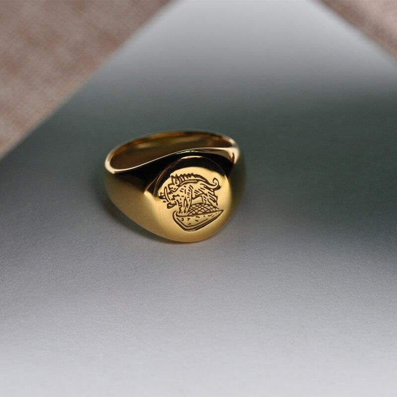 Kingsman anneau le Secret Service personnalisé chevalière anneaux pour hommes femmes Cosplay S925 argent couleur laiton couleur or gratuit graver Cool - 3