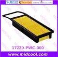 O envio gratuito de alta qulality filtro de ar filtro de cabine 17220-PWC-000 17220PWC000