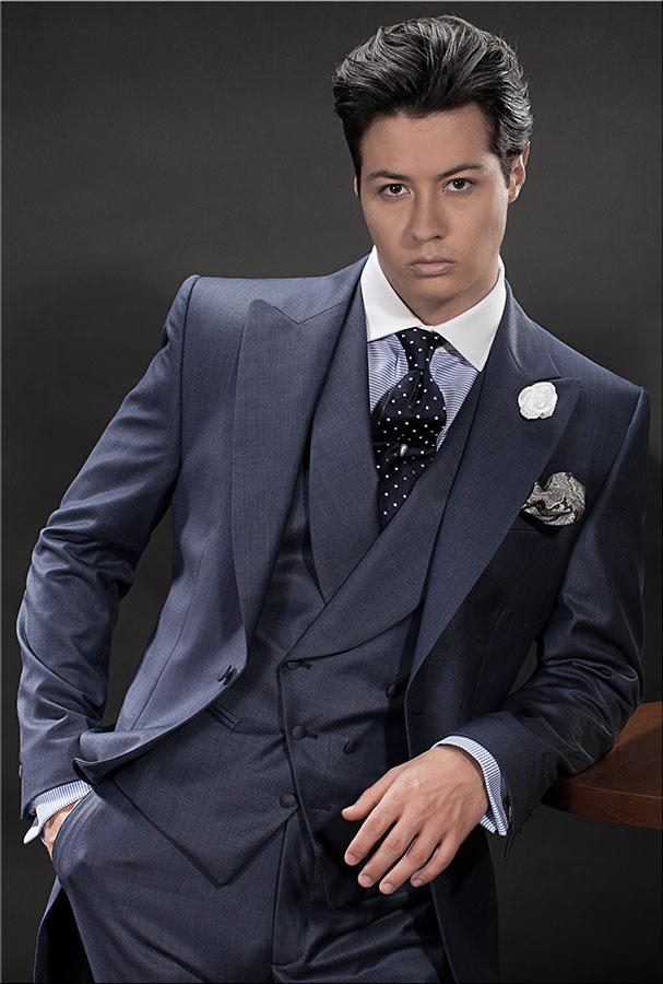 Men Double Breasted Suit Navy Blue Promotion-Shop for Promotional ...