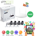 Ipcc 4ch cctv 960 p 1.3mp wifi nvr kits bala impermeable al aire libre sistema de video vigilancia sistema de seguridad ip cámara de $ number mp kit