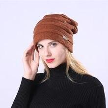 2018 Chapéu de Inverno Unissex Slouchy Caps Crochet Quente Além de Veludo  Protetor Auricular Chapéu para Mulheres Dos Homens 614debdc41e