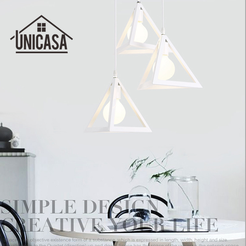 где купить Vintage Wrought Iron Pendant Lights Industrial Lighting Fixtures White Metal Kitchen Island Office Bar Hotel LED Ceiling Lamp по лучшей цене
