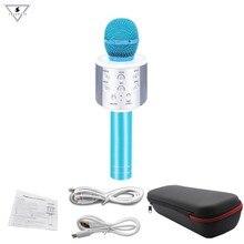 Ssmarwear WS-858 Portable Wireless Karaoke Microphone Mini Handheld Cellphone Player Built-in Bluetooth Speaker pk ws858