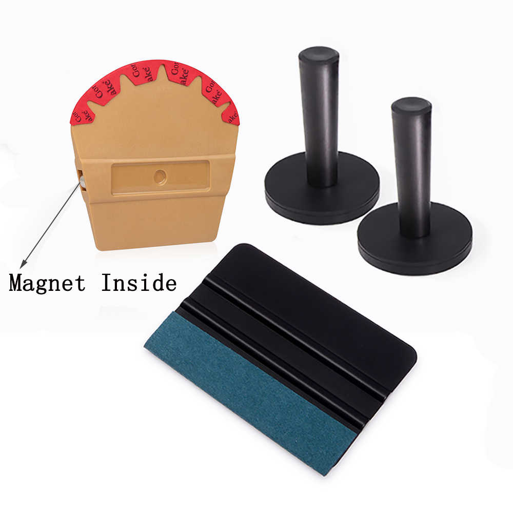 Ehdis Vinyl Wrap Film Magnetik Squeegee Pro Warna Merasa Scraper Magnet Pemegang Mobil Styling Stiker Aksesoris Auto Alat Pembersih