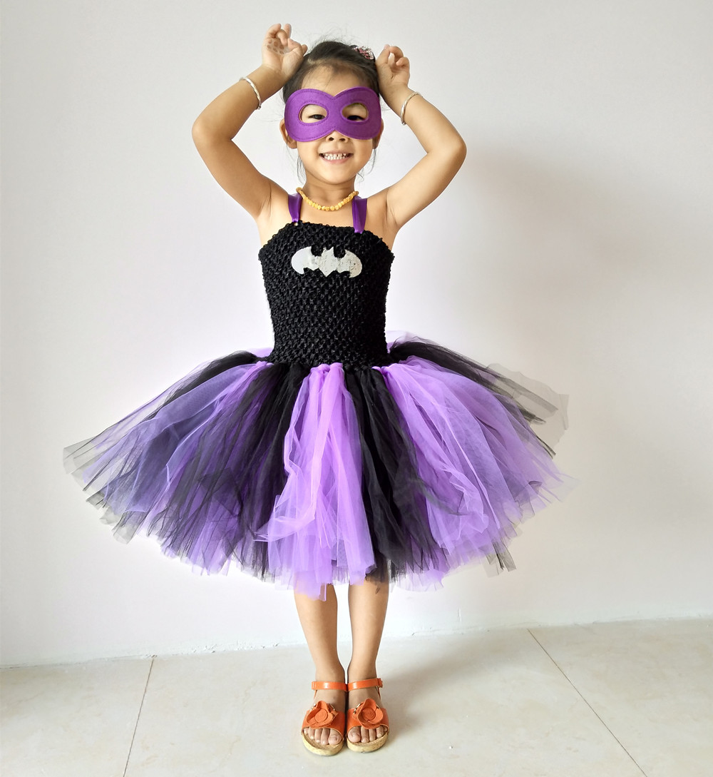 Latest Baby Girl Super Hero Tutu Dress Children Girl Halloween Costume Summer Dress Batman Supergirl Tutus for Party/Birthbay children girl tutu dress super hero girl halloween costume kids summer tutu dress party photography girl clothing