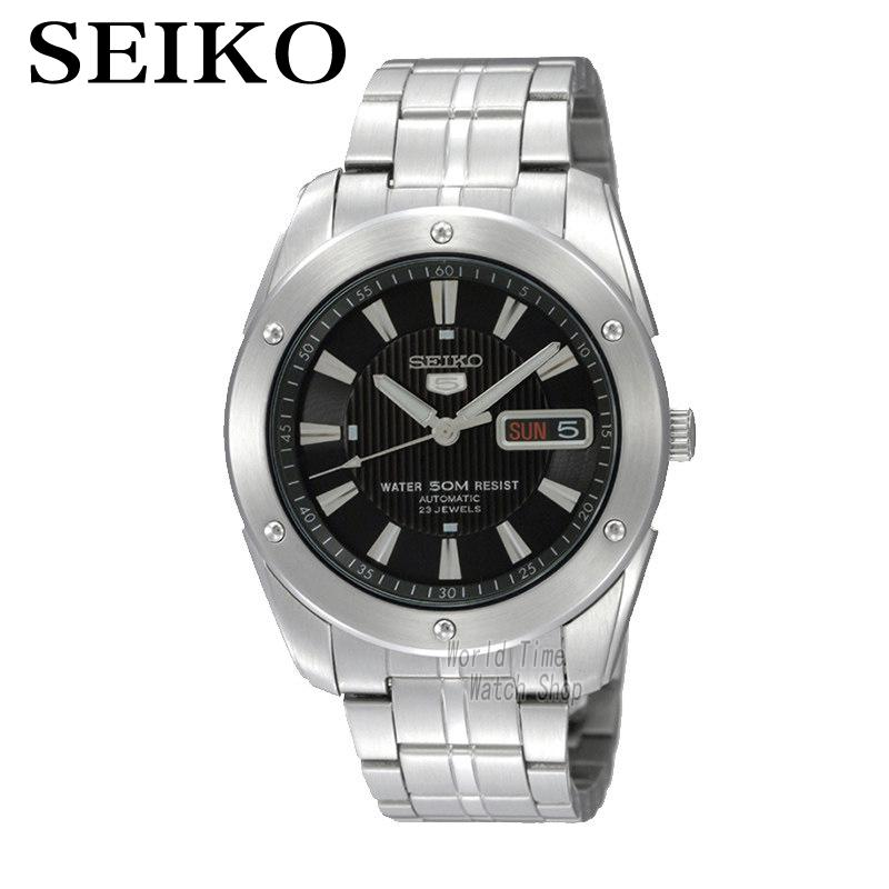 [ pre sale november 11 delivery ] seiko watch seiko 5 automatic sports st aviator 24 jewels men s watch made in japan srp349j1 SEIKO Watch Shield No.5 Business Leisure Week Calendar Steel Band Machinery Men 'S Watch SNZF35J1 SKZ309J1