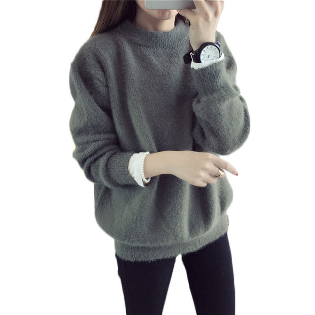 Hot Sell Autumn And Winter Women's Sweater Long Sleeve Cashmers Sweater O-Neck Wool Pull Femme Hiver Fashion Warm Sweaters Women