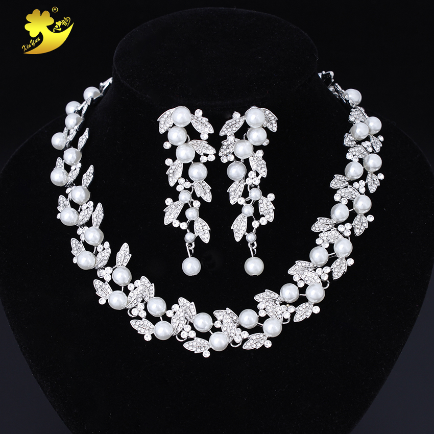 Xinyun Wedding Necklace With Earrings Women Fashion Jewelry Wedding Accessories Bridal Jewellery Bride Necklace Luxurious Sets