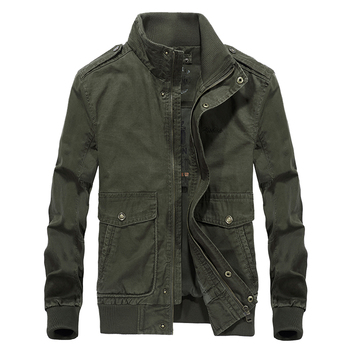 Brand Bomber Jacket Army Uniform Military Jacket Men Stand Collar Cotton Multi-pockets AFS JEEP Autumn Coats Men Plus Size 5XL