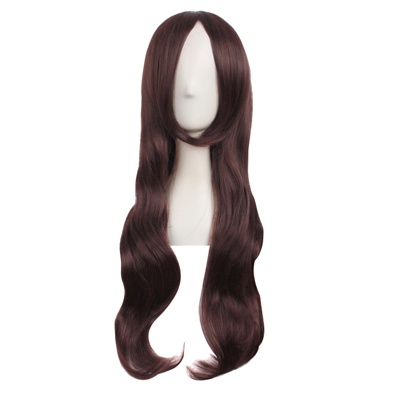 Marvel's The Avengers Scarlet Witch Cosplay Wig 70cm Dark Brown Long Curly Wig Halloween Party Women Heat Resistant Hair