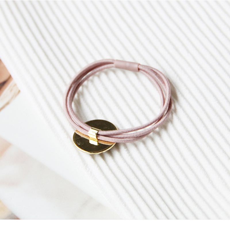 2PCS Korean Simple Geometric Circle Hair Accessories Elastic Rubber Bands Ring Girl Women Elastic Hair Ponytail Holder Hair Ties in Women 39 s Hair Accessories from Apparel Accessories