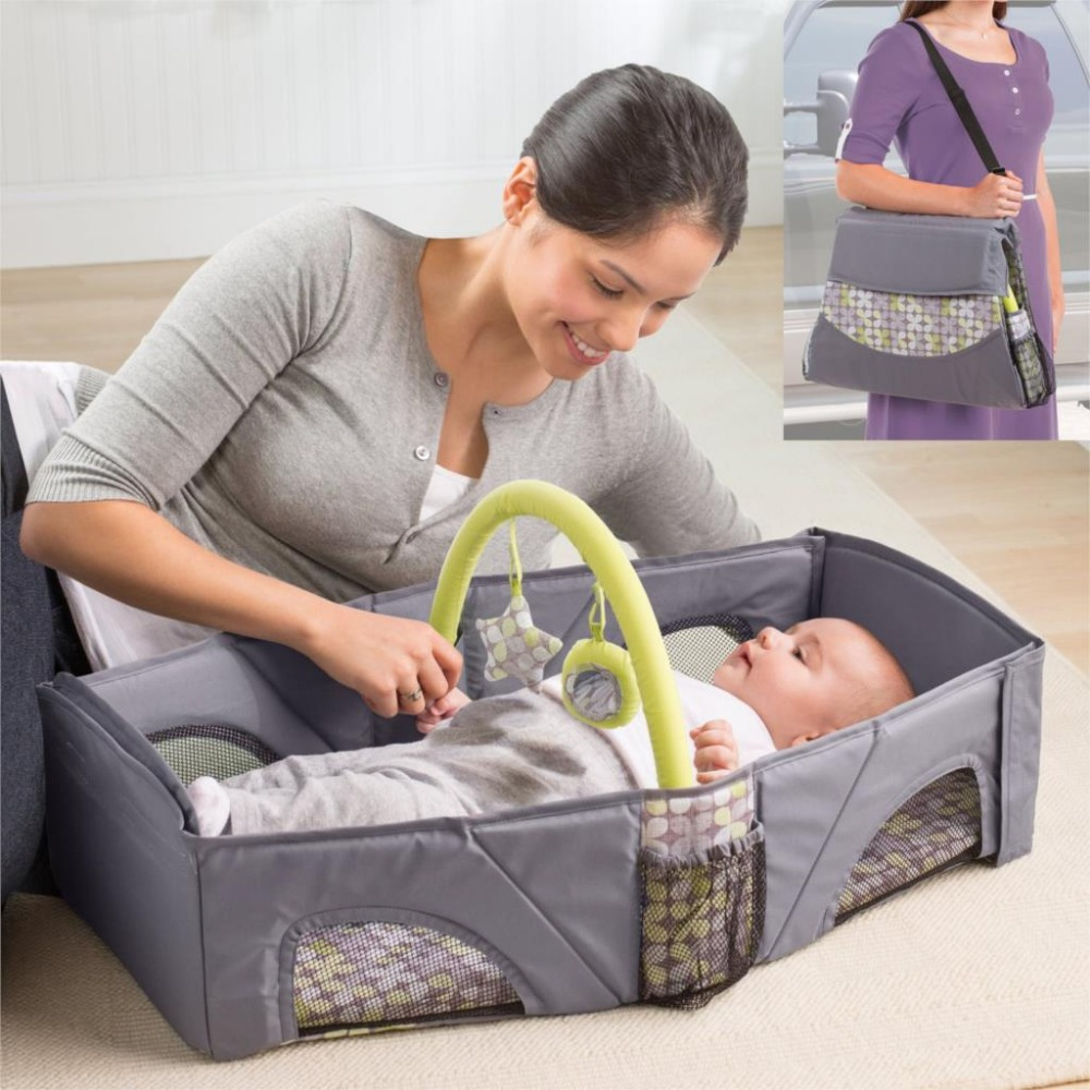Baby cribs good quality - Portable Baby Bed Multifunctional Todddler Folding Travelling Bag High Quality Baby Cradle Cribs Infant Travel