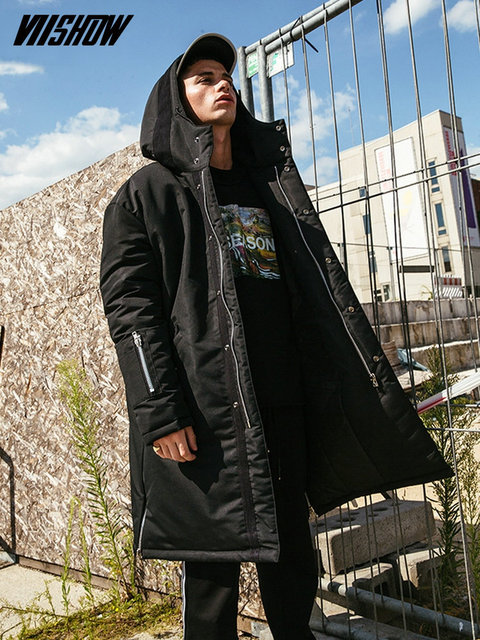 Best Price VIISHOW Streetwear Men's Winter Jacket Brand Men's Park 2018 Winter Male Jacket Manteau Homme Hiver Winter Coat Men MC2364174