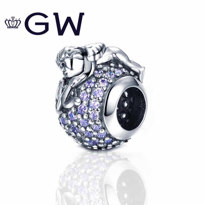 Женский браслет, из стерлингового серебра 925 пробы с надписью Love God Charm, оригинальный браслет европейского бренда, подарок на день Святого Валентина