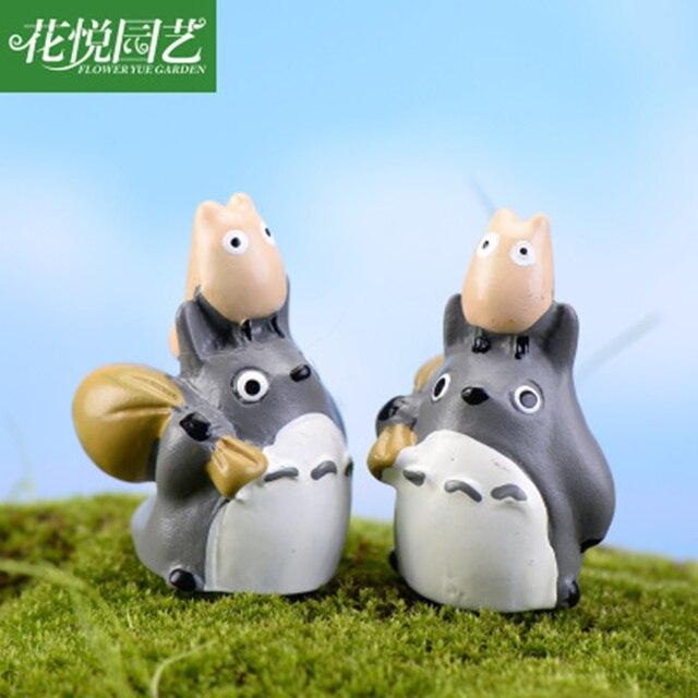 ZOCDOU 1 Piece Tonari Totoro Japan Anime Cartoon Model 3cm Small Statue Figurine Crafts Figure Ornament Miniatures DIY Decor