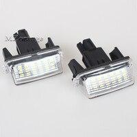 2Pcs 12V 18LEDs 6000K Car LED Bulb License Number Plate Light Lamp External Light For Toyota