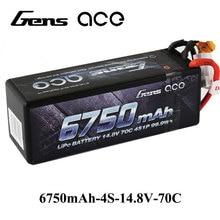 Gens ace 4S 6750mAh Lipo 14.8V Battery Pack 70C XT90 T Plug for Traxxas X-maxx 1/8 Car Lipo Batteria Quad Drone Boat
