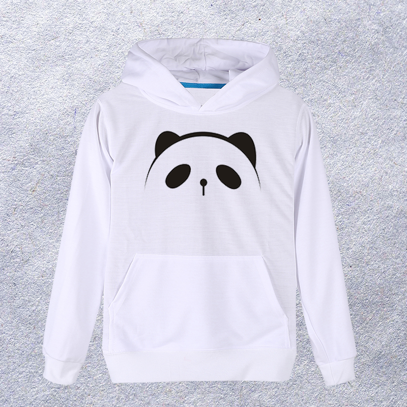 2018 Cute Panda printed Hoodie Men/Women White Sweatshirt Hooded Pullover Fashion Coat Clothes Spring Autumn #12