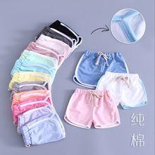 Baby Girl pants Summer Children Trousers Stripe Short Pants Kids Casual Motion Kid Cotton Knee Length Clothing