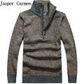 M-3XL 5 cores venda Quente de Boa qualidade marca de moda outono nova 2017 dos homens do algodão gola meia zíper capuz da camisola 50