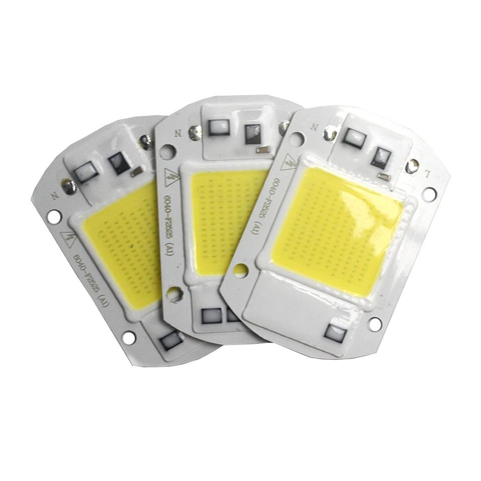 4pcs/lot LED Floodlight Chip 50W 20W 30W LED Chip For Flood Light 220V 110V Integrated Led COB Beads DIY Outdoor Flood Light
